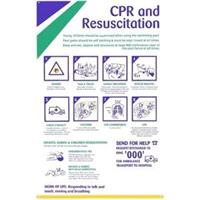 Cpr Resuscitation Chart Safety Sign For Swimming Pools Spa Orange For Myshopping