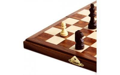 travel magnetic folding walnut wood chess set buy