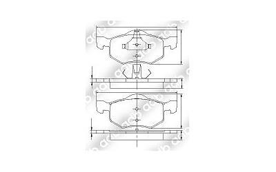 Db1426 4wd Disc Pad Set Front Ford Escape 3l 3 0 4 Door